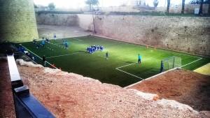 Training in Akko, zwischen den historischen Stadtmauern
